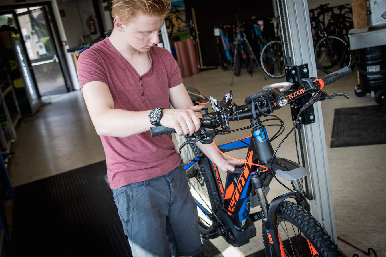 "Functionality is a matter of ""adjustment"" - bike service at Sport Mitterer"
